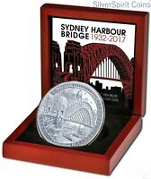 2017 SYDNEY HARBOUR BRIDGE High Relief 2oz Silver proof Coin