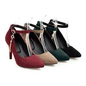 Charming Elegent Womens Nubuck Slim  High Heels with Non-Slip Rubber Soles