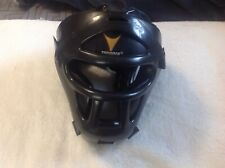 ProForce Thunder Sparring Head Guard Vinyl Headgear with Face Shield - Black