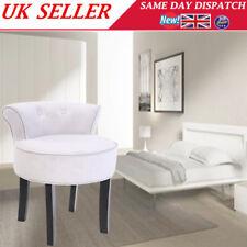 Dressing Table Makeup Stool Chenille Vanity Chair Tub Grey Black Legs Home Seat