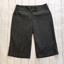 Lane Bryant Womens Size 18 Black & White Tweed Cropped Wide Leg Pants