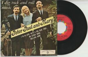 DISQUE VINYL EP PETER PAUL AND MARY WARNER BROS WEP1455 ( ED 1700-1 )+ languette