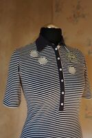Womens authentic La Martina polo shirt L 12/14 casual top slim fit stretchy nice