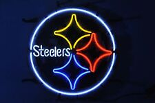 "New Pittsburgh Steelers Logo Neon Sign 18""x18"""