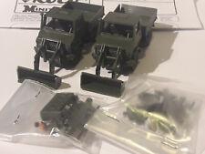 2. Stk. Roco 669 Minitanks H0 Unimog mit Frontlader Bundeswehr