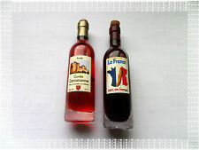 Lot de 2 Aimants Magnets Bouteille de  Vin 1 Rouge et 1 Rosé Neufs