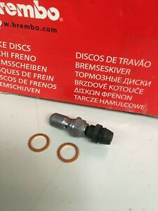 Genuine Brembo Brake Bleeder Banjo Bolt with Washers M10 X 1.0 Ducati Aprilia