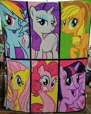 MY LITTLE PONY Large Fleece Throw Blanket Soft Plush Franco Mfg 2013