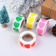 500Pcs/Roll Love Heart Shaped Seal Labels Package Label Sticker For Gift JQ