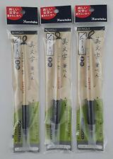 3x Calligraphy Pen Kuretake Bimoji Fine Black Felt Tip Brush  Manga - US Seller