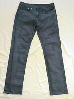 Neil Barrett Men's Dark Blue Distressed Super Skinny Jeans Size 32 - Good Used