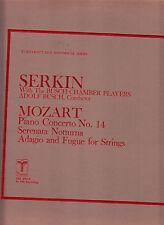 MOZART PIANO CONCERTO #14-SERENATA NOTTURNA/ADAGIO SERKIN-BUSCH 1976 (1938) VOX