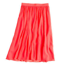 J.CREW crinkled chiffon SKIRT 2P/2 petite/0/XS pink/coral