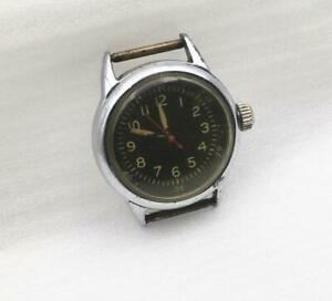 VINTAGE MILITARY WWII ERA WALTHAM A-11 1942 USA HACK SERVICED WATCH 95% ORIGINAL
