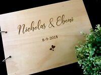 "Personalised ""Bride & Groom's name"" Wedding / Engagement Guest Book"