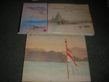 LOT 3 BOOKS-WATERCOLOUR PAINTINGS-BRITISH LANSCAPE-PRINCE CHARLES-HISTORY