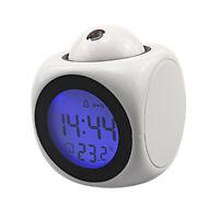 Orologio da tavolo a LED con proiettore a proiezione digitale USB / Batteria per