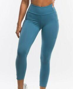 Echt women's purpose Leggings size small bluestone