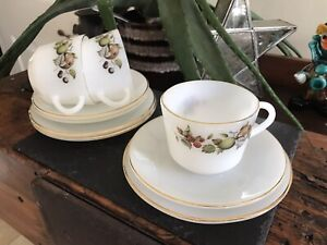 Arcopal Fruit Trios, Cup , Saucer And Side Plates X 3