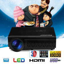 3000Lumens Full HD 1080P LED Projector 3D Home Theater Cinema HDMI VGA AV USB UK