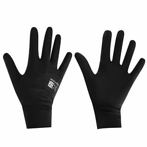 Karrimor Liner Outdoor Thin Gloves Mens Black & Reflective Phone Compatible New