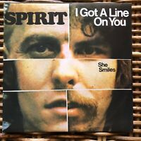 """SPIRIT - I GOT A LINE ON YOU - Peace and Love promo 7"""" 45 giri vinyl Red Ronnie"""