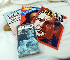 Vtg Richard Nixon Media Lot Time Newsweek ESquire Magazines Watergate Paperback