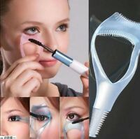 3 in 1 Makeup Eyelash Curler Mascara Guard Applicator Comb Brush Cosmetic Tool