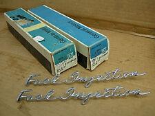 2 1958 - 1961 CORVETTE GM NOS FUEL INJECTION FENDER EMBLEMS #3746457 NCRS RESTO