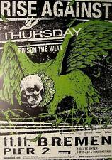 RISE AGAINST / THURSDAY / POISON THE WELL TOUR POSTER