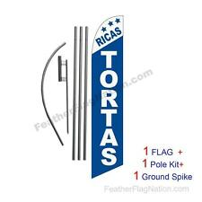 Ricas Tortas 15ft Feather Banner Swooper Flag Kit with pole+spike