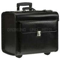 Piloten Business Akten Notebook Laptop LEDER Trolley Koffer  Alassio SILVANA