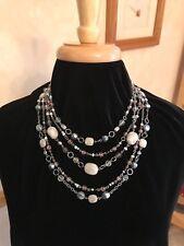 Lia Sophia Multicolor Sugar Plum 5-strand Purple Jade Grey & Pink Bead Necklace