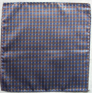 Hankie Pocket Square Handkerchief MENS Hanky BLUE GOLD
