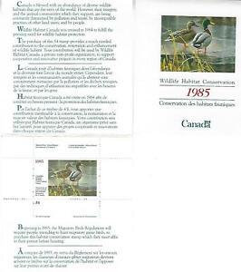Kanada +Wildlife Habitat Conservation Stamp+ 1985 ** Postfrisch