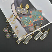 Women Fashion Boho Round Earrings Women Metal Geometric Pearl Shell Drop Dangle