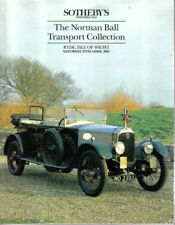 Sothebys Auction Catalogue 13/4/91 Norman Ball Collection Car & Motorcycle