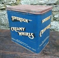 Collectable Rare c1950's Vintage Sovereign Creamy Whirls 7lb Tin