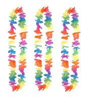 100cm Hawaiian Lei Tropical Flower Garland Necklace Hen Night Party Fancy Dress