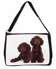 Chocolate Cocker Spaniel Dogs Large Black Laptop Shoulder Bag School/C, AD-SC9SB