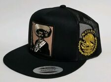 Emiliano Zapata Nayarit Hat Black Mesh Trucker Snap Back Adjust New 2Logos