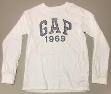 Boys Gap LOGO T-shirt -  White Full sleeve -Size 10-11 Years