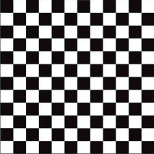 "Black White 1"" Check Square Vinyl Contact Paper Self Adhesive Drawer Peel Stick"