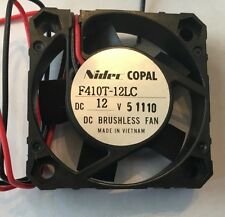 Nidec Copal F410T-12LC Brushless DC Axial Component Cooling Fan 40mm x40mm x10mm