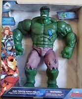 Disney Avengers Hulk Talking Action Figure - Smashing Action and 15 Phrases