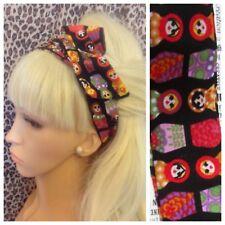 Nueva Muñeca Rusa estampado de algodón BENDY WIRE popular Bufanda de Cabello Cabeza Banda retro con cable