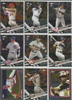 2017 TOPPS CHROME UPDATE 1-100 & All Rookie Cup Complete Your Set Build Lot MLB