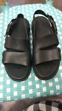 Women's 39/8M Black Leather Camper Sandals