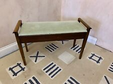 More details for vintage double fabric piano stool with storage
