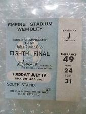 1966 World Cup Ticket MEXICO v URUGUAY, 19 July (Genuine*)